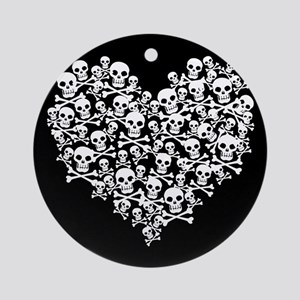 Skull Heart Ornament (Round)