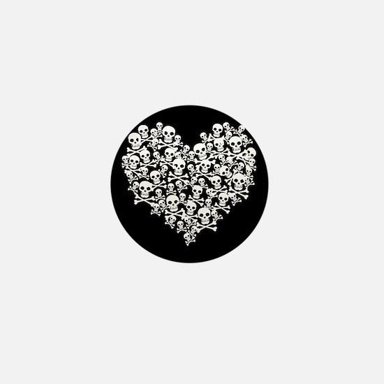 Skull Heart Mini Button