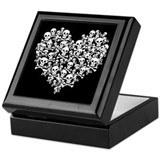 Dark valentines Square Keepsake Boxes