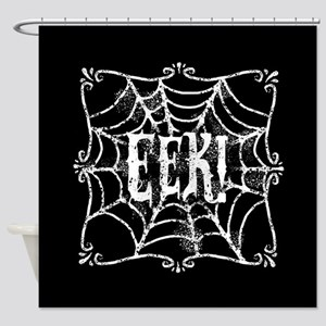 Halloween Cobweb Eek Shower Curtain