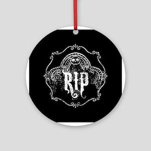 Halloween Tombstone RIP Ornament (Round)