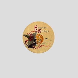 Vintage Witch Girl Mini Button