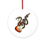 Snake Guitar 01 Ornament (Round)