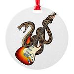 Snake Guitar 01 Round Ornament