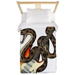 Snake Guitar 01 Twin Duvet