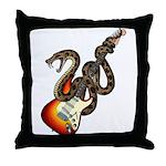 Snake Guitar 01 Throw Pillow