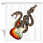 Snake Guitar 01 Shower Curtain