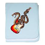 Snake Guitar 01 baby blanket