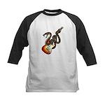 Snake Guitar 01 Kids Baseball Jersey
