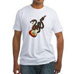 Snake Guitar 01 Fitted T-Shirt