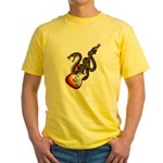 Snake Guitar 01 Yellow T-Shirt