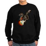 Snake Guitar 01 Sweatshirt (dark)