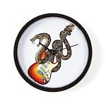 Snake Guitar 01 Wall Clock
