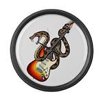 Snake Guitar 01 Large Wall Clock