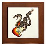 Snake Guitar 01 Framed Tile