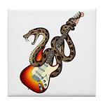 Snake Guitar 01 Tile Coaster