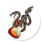 Snake Guitar 01 Round Car Magnet