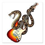 Snake Guitar 01 Square Car Magnet 3
