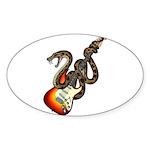 Snake Guitar 01 Sticker (Oval 10 pk)
