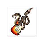 Snake Guitar 01 Square Sticker 3