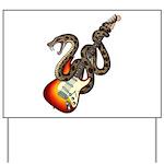 Snake Guitar 01 Yard Sign