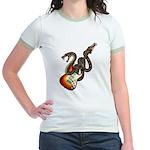 Snake Guitar 01 Jr. Ringer T-Shirt