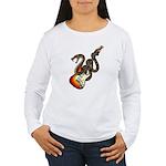 Snake Guitar 01 Women's Long Sleeve T-Shirt