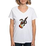 Snake Guitar 01 Women's V-Neck T-Shirt