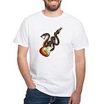 Snake Guitar 01 White T-Shirt