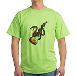 Snake Guitar 01 Green T-Shirt