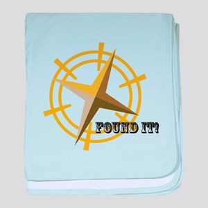 Found It with Compass baby blanket