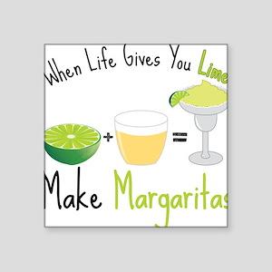 "Make Margaritas Square Sticker 3"" x 3"""
