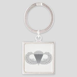 Airborne Square Keychain