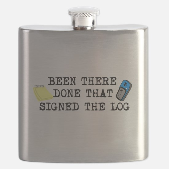 Been There, Done That, Signed The Log Flask