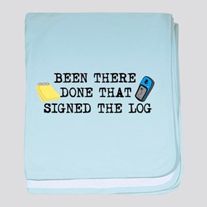 Been There, Done That, Signed The Log baby blanket