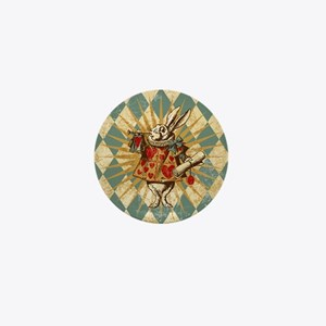Alice White Rabbit Vintage Mini Button