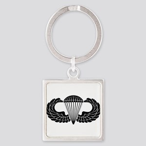 Airborne Stencil Square Keychain