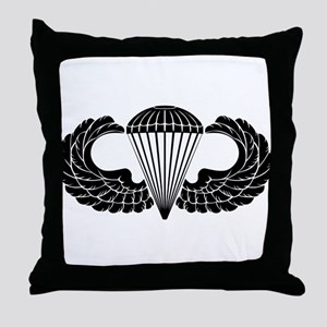 Airborne Stencil Throw Pillow