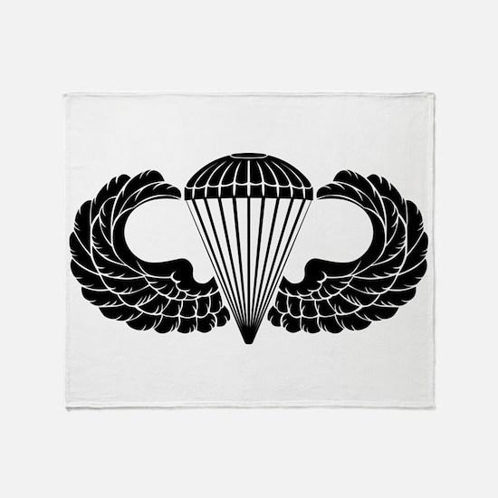 Airborne Stencil Throw Blanket