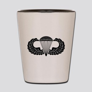 Airborne Stencil Shot Glass