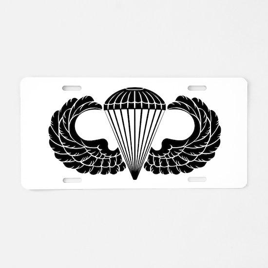 Airborne Stencil Aluminum License Plate