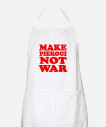 Make Pierogi Not War Apron