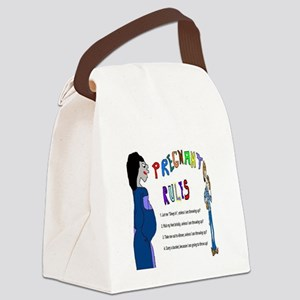 Pregnant Rules Canvas Lunch Bag