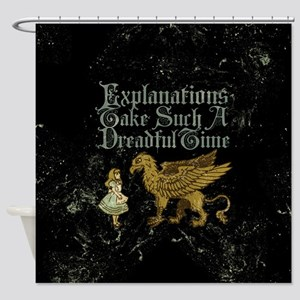 Alice Gryphon Explanations Shower Curtain