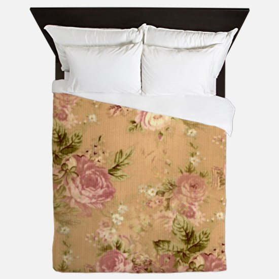 Beautiful Vintage Flowers Queen Duvet