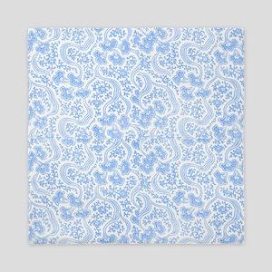 Blue Vintage Floral Queen Duvet