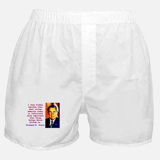 I Very Firmly Believe - Richard Nixon Boxer Shorts