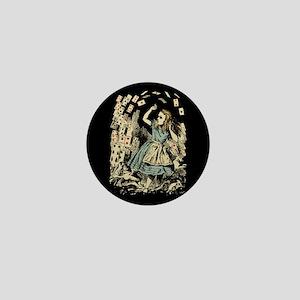 Vintage Alice Flying Cards Dark Mini Button