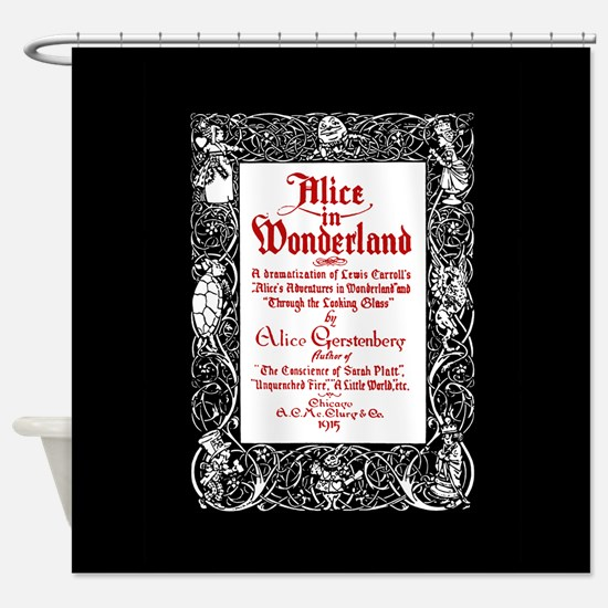 Vintage Alice Title Page Shower Curtain