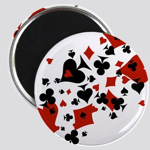 Scattered Card Suits Magnet